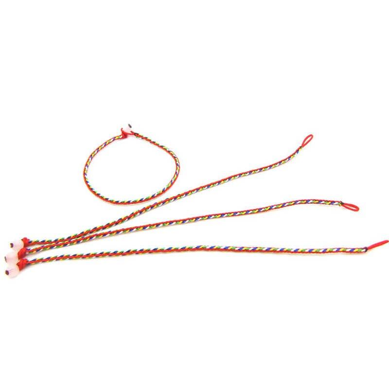Pulsera hecha a mano de la suerte de la cuerda colorida pulsera de la cuerda del nudo chino tradicional regalos de joyería para hombres y mujeres
