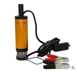 Image 3 - Tragbare Mini 12V 24V DC Elektrische Tauch Pumpe Für Pumpen Diesel Öl Wasser Aluminium Legierung Shell 12L/ min Kraftstoff Transfer Pumpe