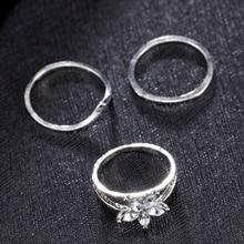 3PCs/set Celebrity Silver Daisy Toe Ring Women Punk Style Fashion Simple Beach Jewelry