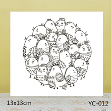 ZhuoAng Cute Chick / Bird Clear Stamps For DIY Scrapbooking/Card Making/Album Decorative Silicon Stamp Crafts