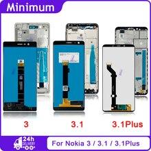 """עבור Nokia 3 N3 TA 1032 5.0 """"עבור Nokia 3.1 N3.1 TA 1049 5.2"""" עבור Nokia 3.1 בתוספת N3.1 בתוספת TA 1118 6.0 """"LCD תצוגת מסך מגע"""