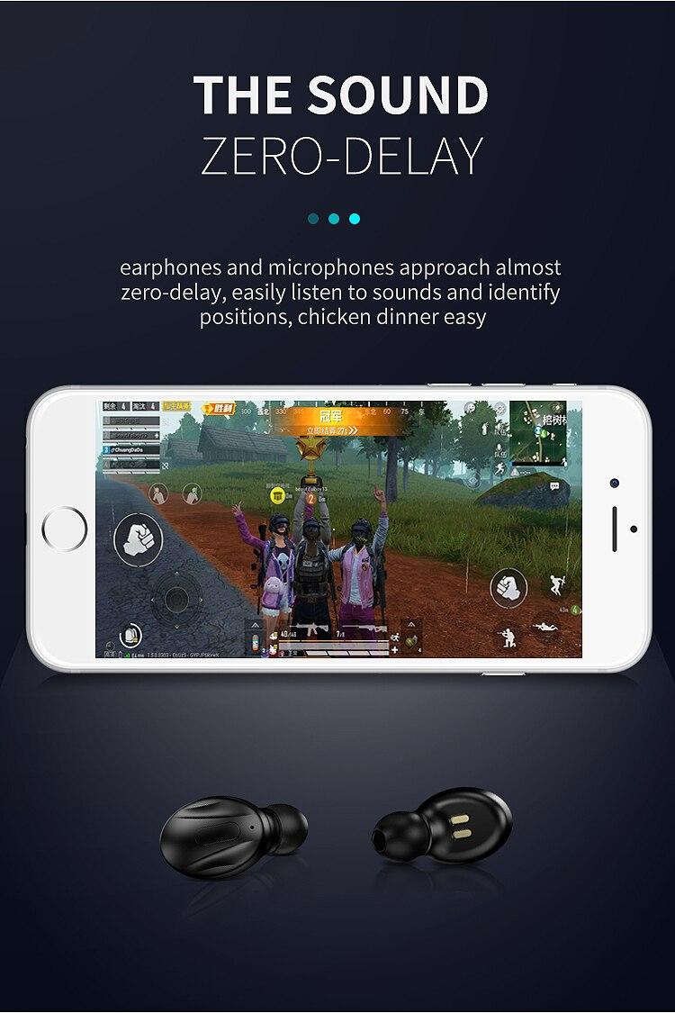 Esporte fone de ouvido mic-carregamento-caixa sem fio