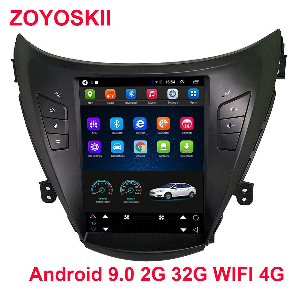 Android 6.0 9.0 10.4 inch vetical screen car <font><b>gps</b></font> multimedia navigation player for <font><b>Hyundai</b></font> <font><b>ELANTRA</b></font> 2012-2015 carplay image