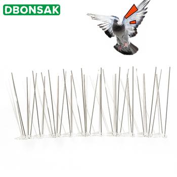 25cm plastikowe kolce ptaków i gołębi przeciw ptakom anty gołębi Spike do pozbycia się gołębi i odstraszania ptaków zwalczanie szkodników tanie i dobre opinie DBONSAK Bird and Pigeon Stainless Steel and Plastic