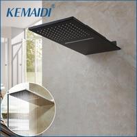 KEMAIDI Bathroom Ultrathin Shower Head Rainfall Square Stainless Steel Shower Head Bathroom Shower Wall Mount Overhead