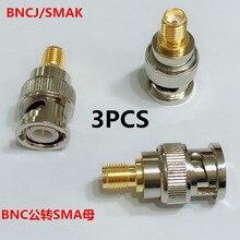 3PCS Pure copper intercom adapter BNCJ/SMAK radio frequency BNC rotary SMA mother