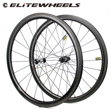 ELITEWHEELS DT Swiss 350 Carbon Road Wheels 38mm Depth Low Profile 27mm Wider More Aero Rim With Pillar 1420 Spokes UCI Quality