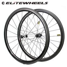 Elitewheels dtスイス350カーボンロードホイール38ミリメートル深さ低プロファイル27ミリメートル広いよりエアロリムと柱1420スポークuci品質