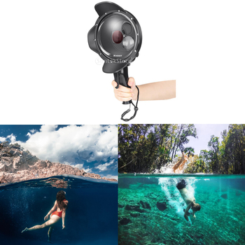Waterproof Diving Dome Port with 3 Switchable Filters for GoPro Hero 5 6 7