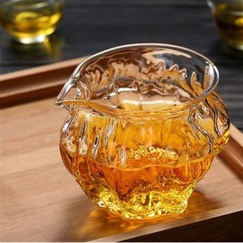 260ml szklane zaparzacze do herbaty odporność na ciepło Chahai orzech wzór filiżanka nadaje się do kuchenki mikrofalowe szklany dzbanek do herbaty MJ82103 tanie i dobre opinie Szkło