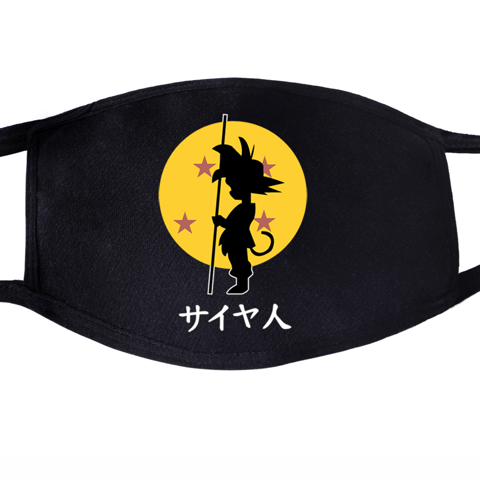 Dragon Ball Japanese Anime Dustproof Mouth Face Mask Unisex Black Cycling Anti-Dust Facial Protective Cover Dragonball Masks