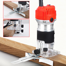 Electric Hand Trimmer 220V 110V Wood Router Woodworking Carpentry Trimming Cutting Machine Tool Set