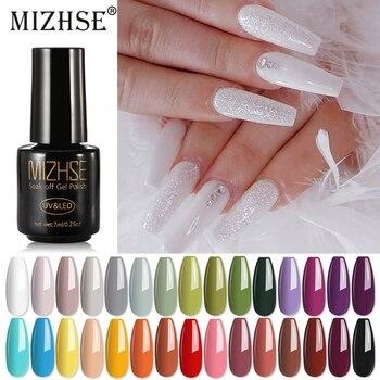 MIZHSE UV Gel Nail Polish Nude Color Series Led Nail Gel Varnish Semi Permanent Paint гель лак Art DIY Design лак для ногтей