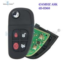 remtekey flip remote key fob for jaguar x s xj xk nhvwb1u241 4 button 434mhz Remtekey  Flip remote car key 4 button 1X43-15K601-AE FCC NHVWB1U241 for Jaguar XJ  XK S X type 434mhz FO21