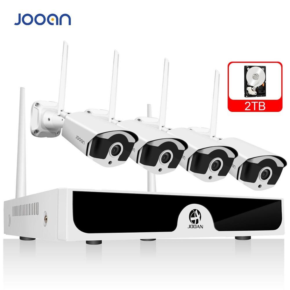 Système de vidéosurveillance sans fil Jooan 8CH 1080P 4 pièces 2MP IP ir-cutcamera NVR caméra de vidéosurveillance extérieure système de sécurité IP Kit de Surveillance vidéo