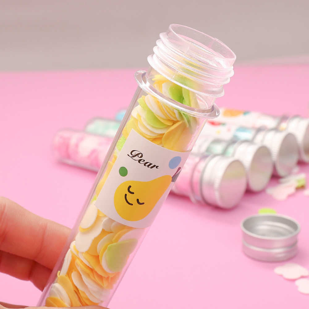 Voyage Mini savon parfumé bain enfant main lavage savon papier Tube Portable pétale Fruit savon fleur papier pour couleurs aléatoires TSLM2