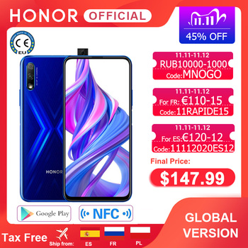 Special Version Honor 9X Smartphone 4G128G  48MP Dual Cam 6.59'' Mobile Phone Android 9 4000mAh OTA Google Play