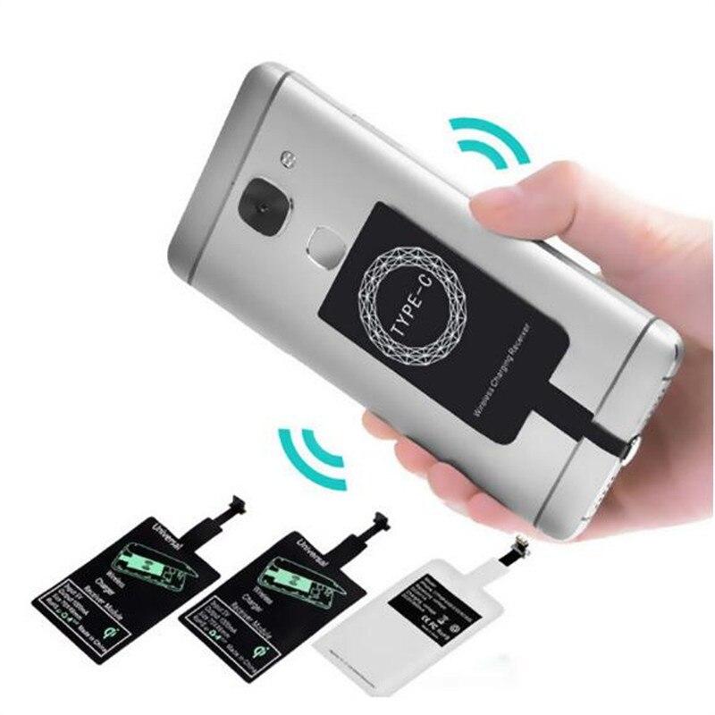 Drahtlose Ladegerät Induktion Empfänger Qi Lade Adapter Für iPhone 7 6 6S 5S Micro USB Typ C Wireless lade Pad dock Connector