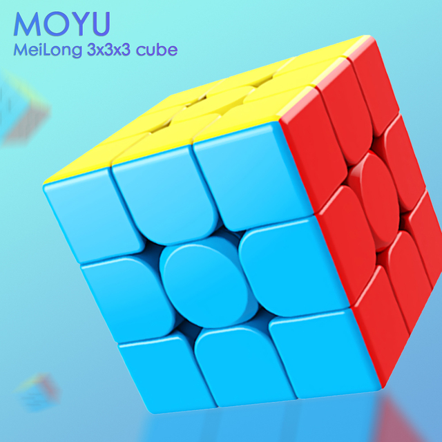 MoYu 3x3x3 meilong magic cube stickerless cube puzzle professional speed cubes educational toys for students 6