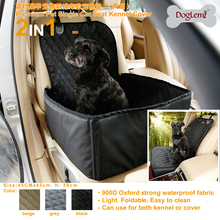 Doglemi 2 In 1 Delux Pet Front Seat Cover Protector 900D Nylon Waterproof Dog Car Carrier Booster Carrying Bags