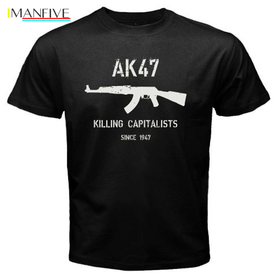 New Men T-Shirt Men Casual T Shirt Tops Tee AK47 Killing Capitalists since 1947 Logo  t shirt design online