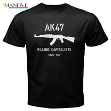 New Men T-Shirt Casual T Shirt Tops Tee AK47 Killing Capitalists since 1947 Logo  t shirt design online