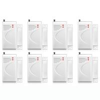 FUERS 8pcs 433mhz Wireless Opening Sensor Home Alarm Security Window Door Sensor Gap Detector For DP500 Alarm Panel