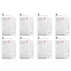 Image 1 - Sensor de apertura inalámbrico FUERS 8 Uds 433mhz alarma de seguridad para el hogar, ventana, Sensor de puerta, Detector de huecos para Panel de alarma DP500