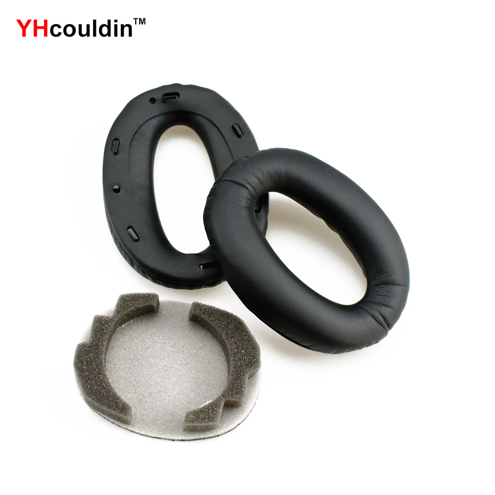 YHcouldin Ear Pads For Sony <font><b>MDR</b></font> <font><b>1000X</b></font> WH1000XM2 Replacement Headphone Earpad Covers image