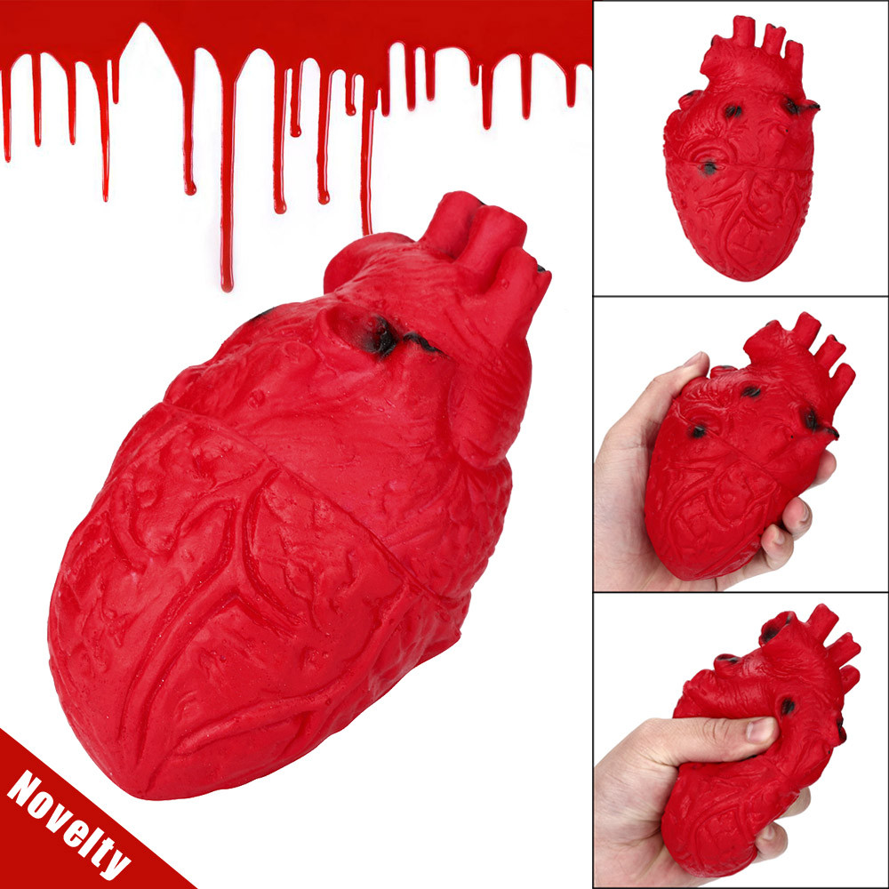 Novelty Silicone Stress Ball Scary Organ Heart Squeeze Toy Stress Reliever Toy Funny Scary Kids Toys Brinquedos Juguetes игрушки
