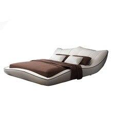 Европейский и американский каркас для кровати из натуральной кожи, современные мягкие кровати, мебель для дома, спальни, cama muebles de dormitorio/camas quarto