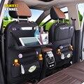 PU кожаный Органайзер для заднего сиденья автомобиля сумка для хранения на сиденье автомобиля лоток Органайзер для автомобиля Asiento Almacenaje