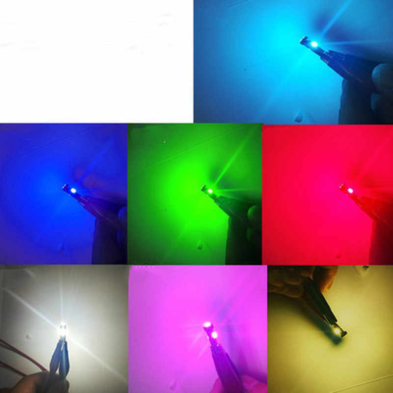 T5 Led Car Auto Led 3 Led Smd 3528 Wedge Led Light Bulb Lamp Dashboard Instrument Wit Roze Ijs blauw Rood Geel Groen