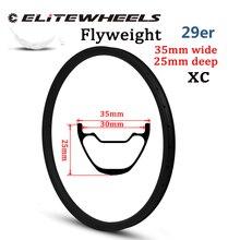 355g רק 29er MTB פחמן שפת 35mm רוחב ללא פנימית מוכן Hookless סגנון עבור XC גלגל קרוס קאנטרי הר אופני זוג גלגלים