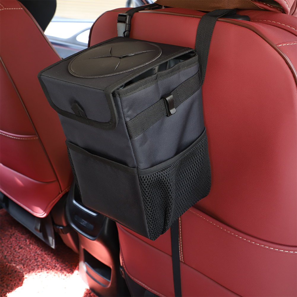 Leak-Free Hanging Car Trash Bin
