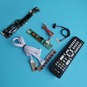 Ajuste ltd133ewmz/ltd133kx2s/ltd121exvv tela 1280*800 1-ccfl universal controlador placa de unidade vga usb av 20 pinos lvds kit diy