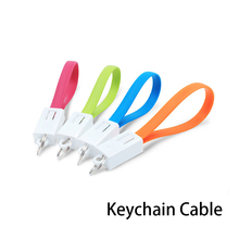 Keychain Micro USB Type C Cable Fast Charger Small Cable For iphone Sumsang Key Chain USBC Short Cabel Mini Cables East to Carry