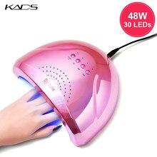 KADS 48W suszarka do paznokci 30 sztuk LED UV lampa do wszystkich rodzajów żel polski Manicure maszyna do utwardzania 5s/30s/s, 60s czujnik automatyczny narzędzie do paznokci