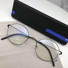 レトロラウンドネジなし眼鏡チタンメガネフレーム男性モーテンブランドデザイナーハンドメイド眼鏡feminino lentes opticos