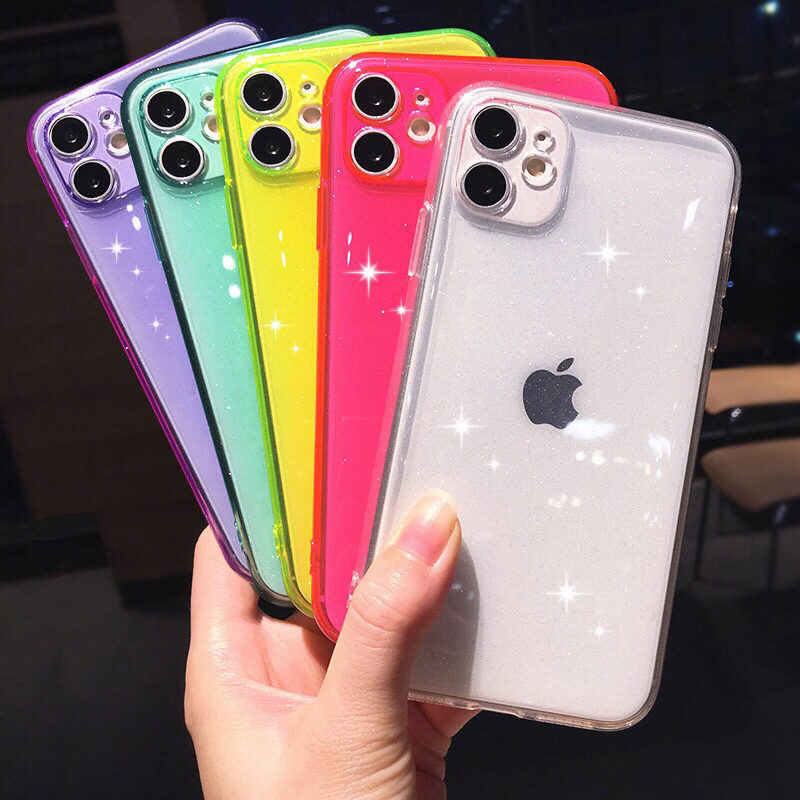 Ottwn Glitter Sparkly Transparant Soft Tpu Siliconen Case Voor Iphone 7 8 6S Plus 11 Pro X Xr Xs max Se 2020 Clear Back Telefoon Case
