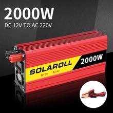 2000w inversor de potência do carro dc 12v para ac 220v adaptador conversor carregador portátil automático modificado onda senoidal universal soquete