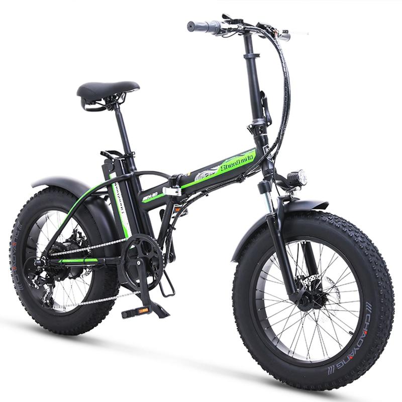 Велосипед электрический с толстыми шинами 500W4.0, Пляжный круизер, велосипед с усилителем, складной велосипед с литиевым аккумулятором 48 В дл...
