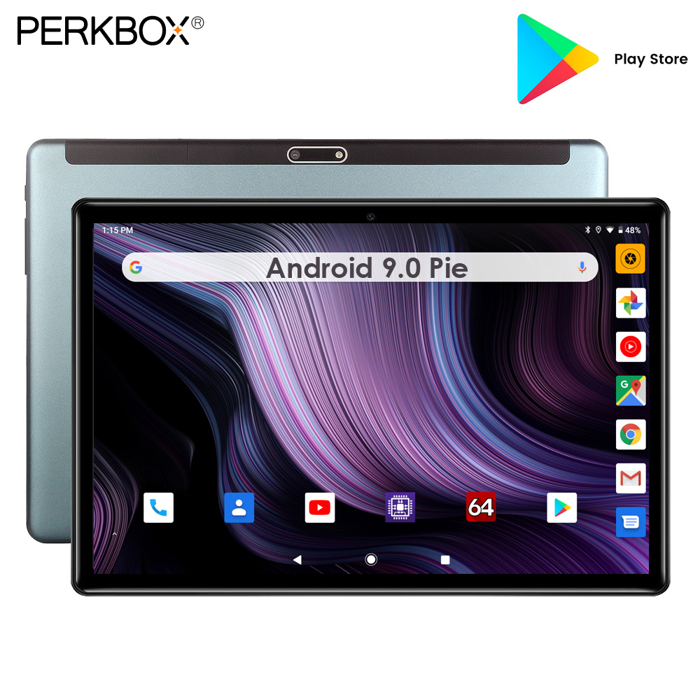 Perkbox Unlock 10 Inch Tablet Quad Core 3G Phone Call 32GB ROM 1280x800 IPS Android 9.0 Pie Tablet Pad 10 Inch
