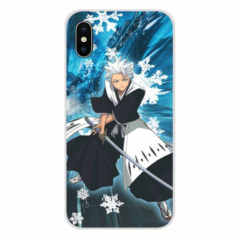 Voor Apple Iphone X Xr Xs 11Pro Max 4S 5S 5C Se 6S 7 8 Plus Ipod touch 5 6 Transparante Tpu Cases Anime Bleach Hitsugaya Toushirou