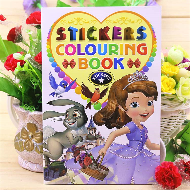 New 16 Page Sofia Coloring Book Sticker Book Children Kids Books Adults Coloring Books Painting/Drawing/Art 2 Cover Patterns