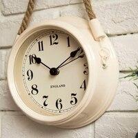 Relógios de Parede Relógio de Sala de estar Moderno e Minimalista nórdico Ferro Forjado Relógios de Metal Criativo Relógio de Quartzo Personalidade
