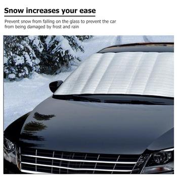 Hot Sale Windshield Sunshades Multi-function 59x28 inch Winter Car Windshield Cover Auto Snow Ice Frost Shield Heat Sun Shade image