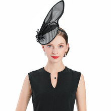 Church Hats for Black Women Wedding Banquet Fedoras Fascinator Leaves With Butterfly Decoration Cocktail Tea Party Cap