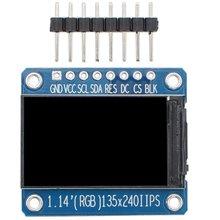 1 14 cali wyświetlacz TFT IPS moduł wyświetlacza LCD ST7789 135*240 SPI w pełnym kolorze 8pin ekran o wysokiej rozdzielczości tanie tanio CN (pochodzenie) Samoprzylepne 1 14 inch TFT display screen 1 14 inches 135 * 240 14 9*24 9mm 28* 31 4mm 4-wire SPI interface