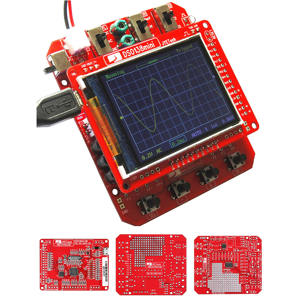 <font><b>DSO138</b></font> <font><b>Mini</b></font> Practical Electronic Learning Analyzer Digital Portable Test Professional Oscilloscope Kit TFT LCD DIY Pre-soldered image